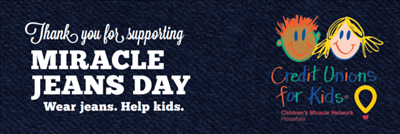 Prairie Fcu Supports Cmn Hospitals With Miracle Jeans Day Donations